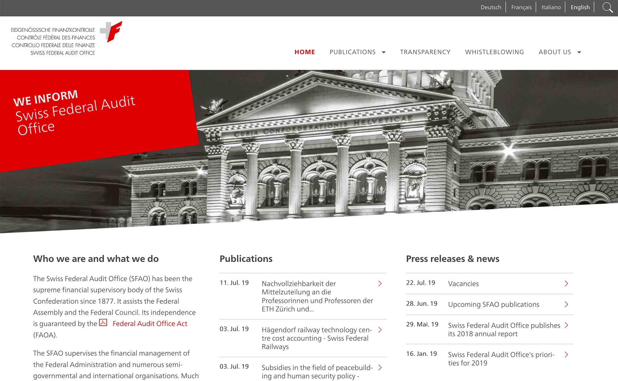 The Swiss Federal Audit Office