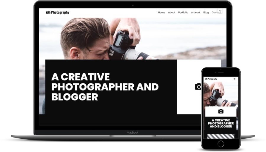 WordPress themes for photographers: Neve