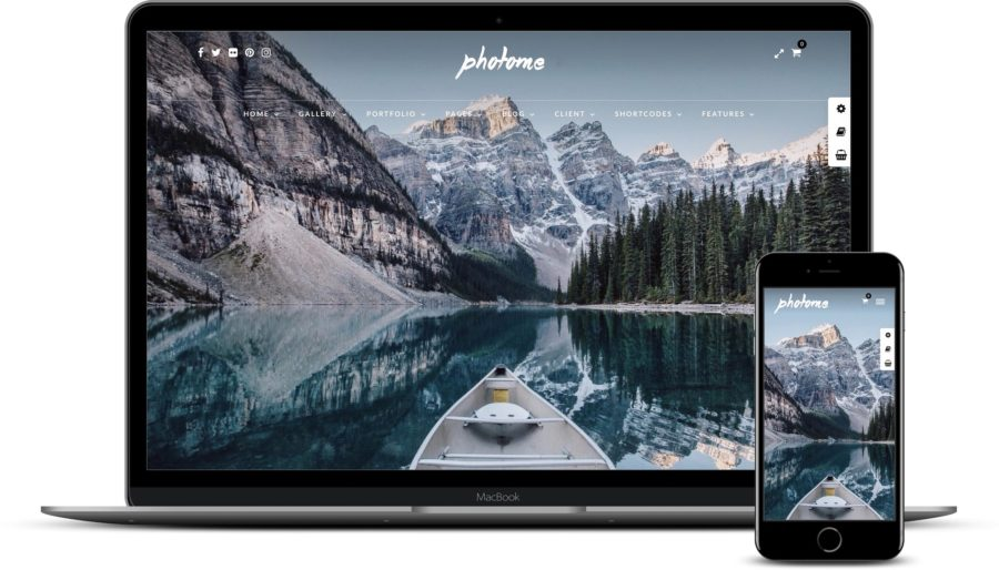 WordPress themes for photographers: PhotoMe
