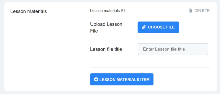Add lesson materials in MasterStudy LMS