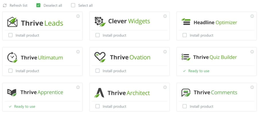 Thrive Product Manage