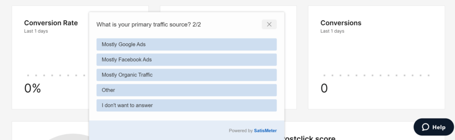 Instapage traffic question