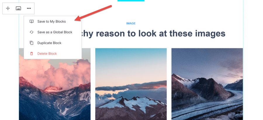How to create a landing page with Instapage: how to save an InstaBlock