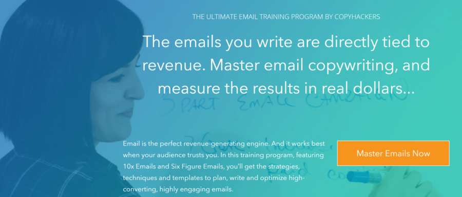 How to create a landing page: CopyHacker email training program
